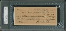 Amelia Earhart 2x Signed 2.75x6.25 1933 Check Auto Graded Mint 9! PSA Slabbed