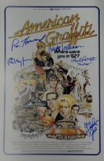 American Graffiti Cast Auto 11x17 Photo Richard Dreyfuss Ron Howard Le Mat JSA