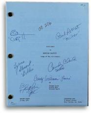 American Graffiti Cast Signed Movie Script Le Mat Williams Dreyfuss JSA S71476