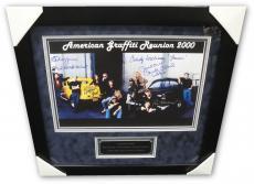 American Graffiti Signed 12x18 Photo Richard Dreyfuss Ron Howard Le mat +2 Frame