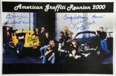 American Graffiti Signed 12x18 Photo Richard Dreyfuss Ron Howard Paul Le mat JSA
