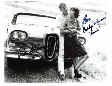"AMERICAN GRAFFITI"" Signed by RON HOWARD as STEVE and CINDY WILLIAMS as LAURIE - 11x8.5 B/W Photo"