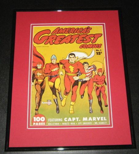 America's Greatest Comics #1 Framed Cover Photo Poster 11x14 Official Repro