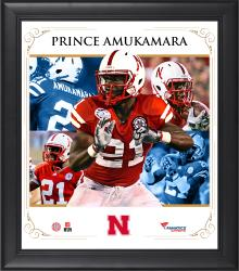 "Prince Amukamara Nebraska Cornhuskers Framed 15"" x 17"" Core Composite Photograph"