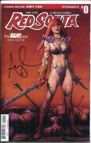 Amy Chu Red Sonja Signed Autograph Bam Box Dynamite Comic Book Volume #0 COA