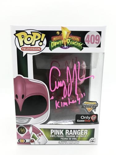 Amy Jo Johnson Signed FUNKO POP Game Stop Mighty Morphin Power Rangers JSA COA