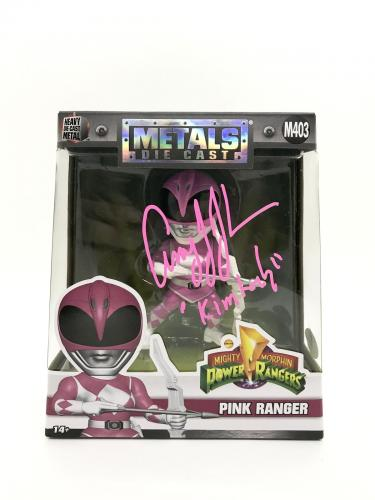 Amy Jo Johnson Signed Metals Die Cast Mighty Morphin Power Rangers Kimberly JSA