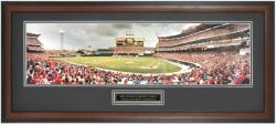 Los Angeles Angels of Anaheim The Magical Comeback in 2002 World Series Framed Unsigned Panoramic Photograph with Suede Matte