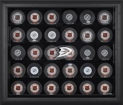 Anaheim Ducks 30-Puck Black Display Case - Mounted Memories