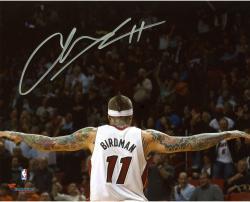 "Chris Andersen Miami Heat Autographed 8"" x 10"" Arms Spread Photograph"