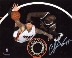 "Chris Andersen Miami Heat Autographed 8"" x 10"" Above Rim Rebound Photograph"