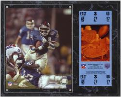 "Ottis Anderson New York Giants Super Bowl XXV Sublimated 12"" x 15"" Plaque with Replica Ticket - Mounted Memories"