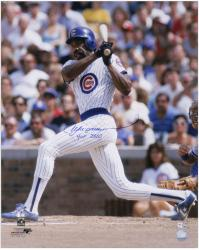Andre Dawson Chicago Cubs Autographed 16'' x 20'' Photograph with HOF 2010 Inscription - Mounted Memories