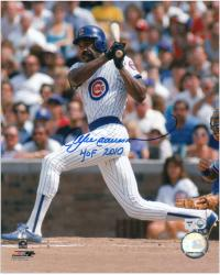 Andre Dawson Chicago Cubs Autographed 8'' x 10'' Photograph with ''HOF 2010'' Inscription - Mounted Memories