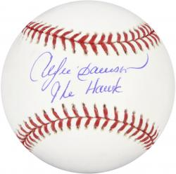 Andre Dawson Autographed Baseball with The Hawk Inscription - Mounted Memories