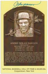 Andre Dawson Baseball Hall of Fame Plaque Autographed Picture Postcard - Mounted Memories