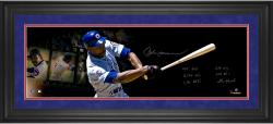 Andre Dawson Chicago Cubs Framed Autographed 10'' x 30'' Film Strip Photograph with Multiple Inscriptions-#2-23 of a Limited Edition of 24 - Mounted Memories