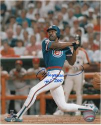 "Andre Dawson Chicago Cubs Autographed 8"" x 10"" Photograph with ""HOF 2010"" Inscription - Mounted Memories"