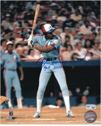Andre Dawson Montreal Expos Autographed 8'' x 10'' Photograph with HOF 2010 Inscription - Mounted Memories