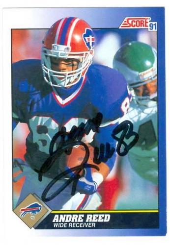 Andre Reed autographed Football Card (Buffalo Bills) 1991 Score #53