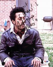 """Andre Royo The Wire """"Keep It Clean!"""" Signed 8X10 Photo PSA/DNA AC45192"""