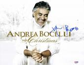 "Andrea Bocelli Autographed 11"" x 14"" My Christmas Photograph - PSA/DNA COA"