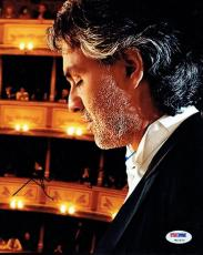 Andrea Bocelli Opera Legend Signed Autographed 8x10 Photo PSA/DNA #W10572