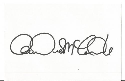 "Andrea Mcardle ""annie Album"" Signed Autographed 4x6 Index Card W/coa Authentic A"