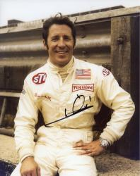 Mario Andretti Indy Car Autographed 8'' x 10'' Hand On Hip Photograph