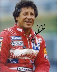 Mario Andretti Indy Car Autographed 8'' x 10'' Red Jacket Photograph