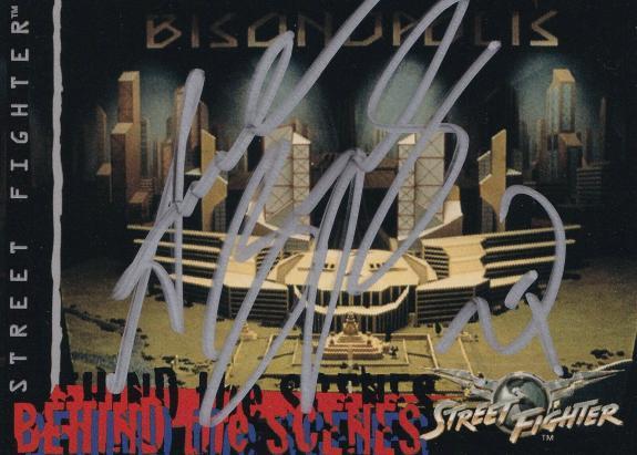 Andrew Bryniarski Signed 1995 Street Fighter Movie Upper Deck Card #80 Auto 1994