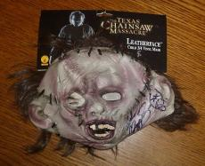 Andrew Bryniarski Signed Texas Chainsaw Massacre Mask PSA/DNA COA Leatherface 55
