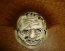 Andrew Bryniarski Signed Texas Chainsaw Massacre Mask PSA/DNA COA Leatherface 56