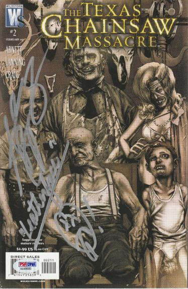 Andrew Bryniarski Signed The Texas Chain Massacre Comic Book #2 Psa/dna Coa Ws