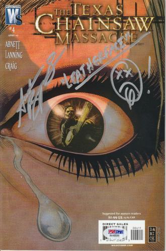 Andrew Bryniarski Signed The Texas Chain Massacre Comic Book #4 Psa/dna Coa Ws
