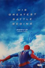 Andrew Garfield Authentic Signed Amazing Spider-Man 12x18 Photo PSA/DNA #AB97504