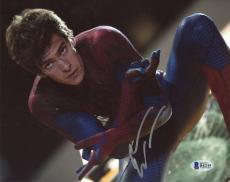 """Andrew Garfield Autographed 8"""" x 10"""" Spiderman Kneeling Photograph - Beckett COA"""