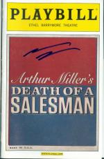 Andrew Garfield autographed Playbill (Death of a Salesman)