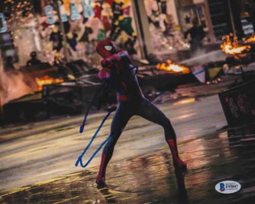 Andrew Garfield Signed 8x10 Photo Spider-man Beckett Bas Autograph Auto Coa F