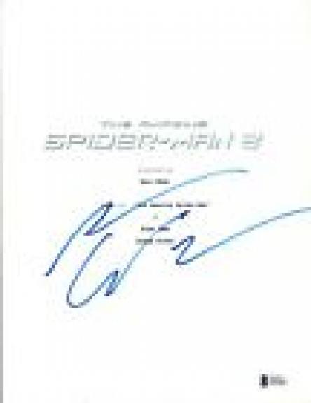 Andrew Garfield Signed Autograph THE AMAZING SPIDER-MAN 2 Script Beckett BAS COA