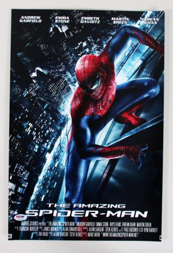 Andrew Garfield Signed Poster The Amazing Spider-Man – COA PSA/DNA