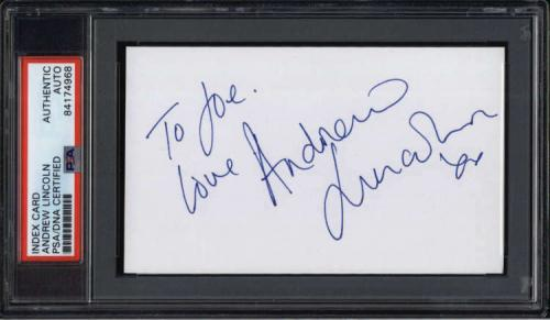 Andrew Lincoln Actor The Walking Dead Signed Index Card PSA/DNA