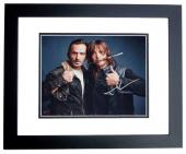 Andrew Lincoln and Norman Reedus Signed - Autographed The Walking Dead 11x14 inch Photo BLACK CUSTOM FRAME - Guaranteed to pass PSA or JSA