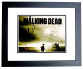 Andrew Lincoln and Norman Reedus Signed - Autographed The Walking Dead 8x10 inch Photo BLACK CUSTOM FRAME - Guaranteed to pass PSA or JSA