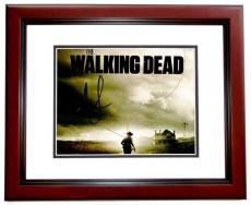 Andrew Lincoln and Norman Reedus Signed - Autographed The Walking Dead 8x10 inch Photo MAHOGANY CUSTOM FRAME - Guaranteed to pass PSA or JSA