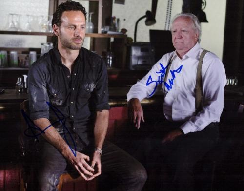 Andrew Lincoln and Scott Wilson Signed - Autographed THE WALKING DEAD 11x14 inch Photo - Guaranteed to pass PSA or JSA