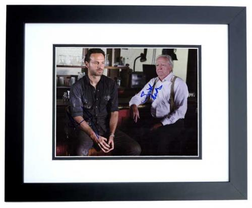 Andrew Lincoln and Scott Wilson Signed - Autographed THE WALKING DEAD 11x14 inch Photo BLACK CUSTOM FRAME - Guaranteed to pass PSA or JSA