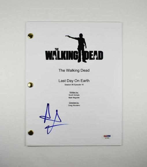Andrew Lincoln Autographed Signed Script Certified Authentic PSA/DNA COA