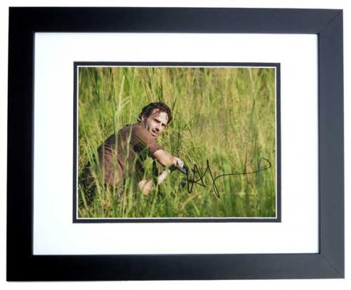 Andrew Lincoln Signed - Autographed The Walking Dead 11x14 inch Photo BLACK CUSTOM FRAME - Guaranteed to pass PSA or JSA