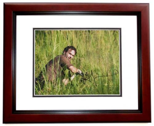 Andrew Lincoln Signed - Autographed The Walking Dead 11x14 inch Photo MAHOGANY CUSTOM FRAME - Guaranteed to pass PSA or JSA
